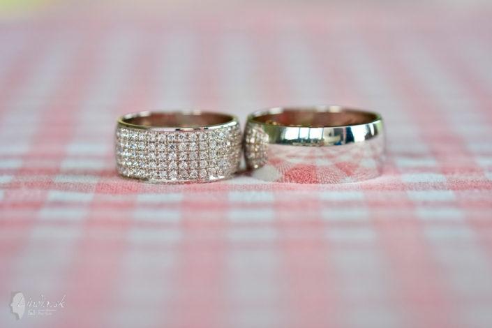 svadobne prstienky detail